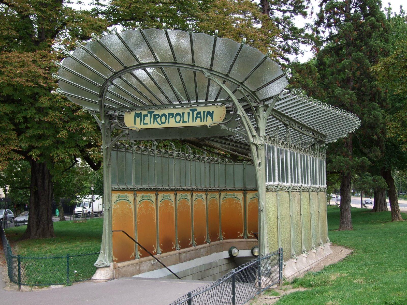 Porte Dauphine Art Nouveau Metro Ingang Door Arthur