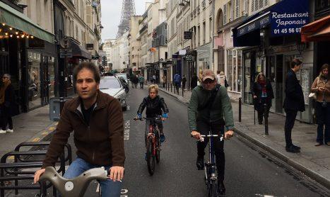 Op de fiets door Parijs
