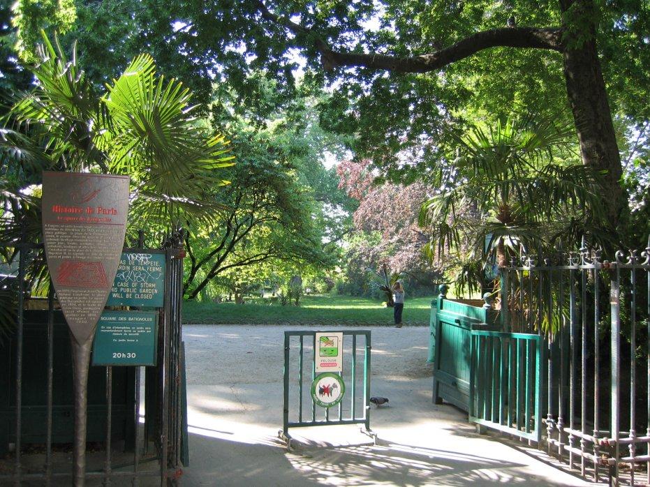Square des Batignolles ingang