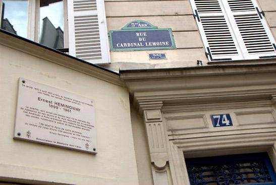 hemingway-in-parijs-rue-cardinal-lemoine