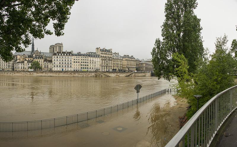 Overstroomde Seinekades Parijs (Foto : Mairie de Paris)
